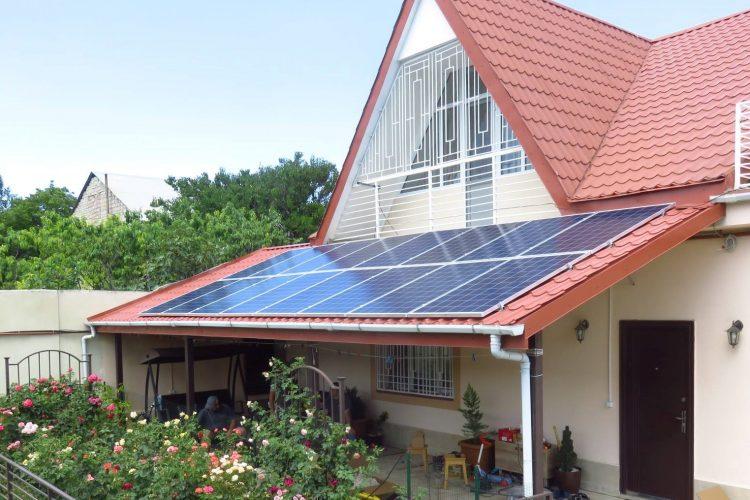ახალი ქსელს მიერთებული მზის მიკროელექტრო სადგური სიმძლავრით 4,32 კვტ
