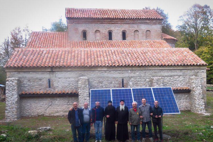 (Georgian) სანაგირეს მამათა მონასტერში დამონტაჟდა მზის ფოტოელექტრული სისტემა