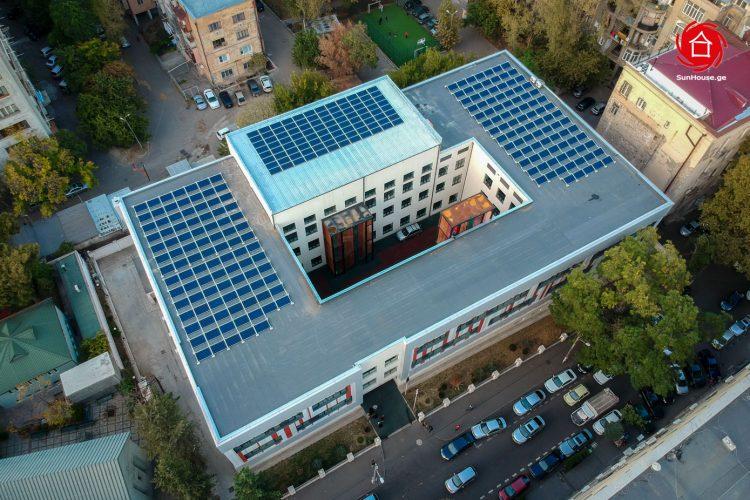 (Georgian) 77,76 კვტ სიმძლავრის ქსელს მიერთებული მზის ფოტოელექტრული სადგური 61-ე სკოლისთვის
