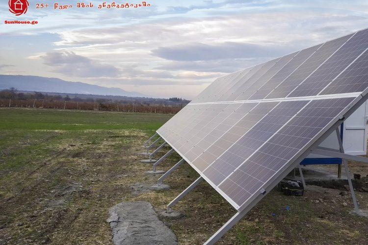 (Georgian) 6,48 კილოვატი სიმძლავრის  მზის მიკროელექტრული სადგური სოფ. ტიბაანში