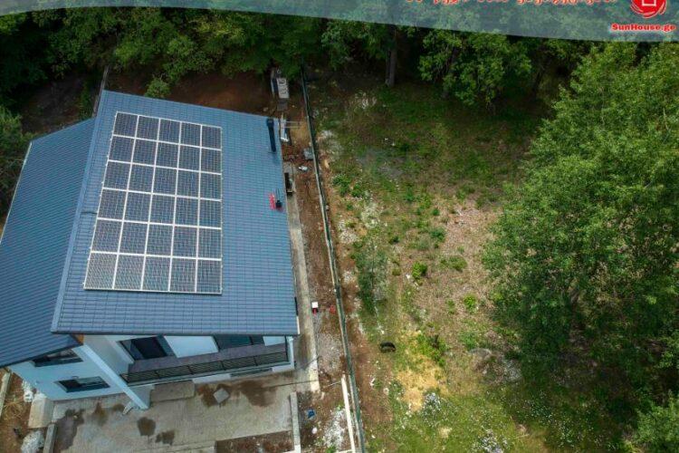 10 კილოვატიანი მზის ფოტოელექტრული სადგური კიკეთში