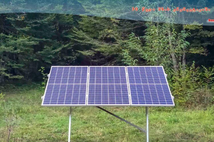 მზის ავტონომიური სადგური ბაწარას ნაკრძალის რეინჯერთა სახლისთვის
